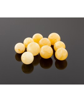 Round royal yellow amber beads