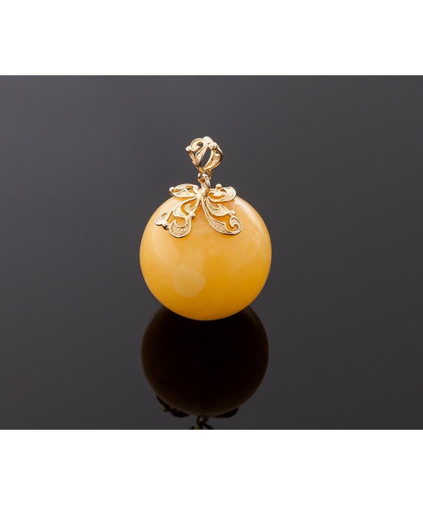 Round amber pendant baltic amber beads luxurious amber pendant round amber pendant 33mm mozeypictures Images