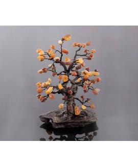 "Amber tree ""Oak"" 33 cm"